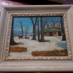 CANADIAN SCENE ARTIST SIGNED BAGG OIL PAINTING pair