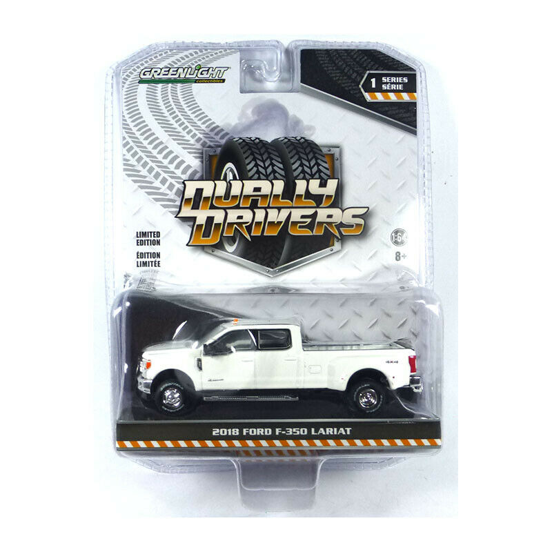 Greenlight 46010-C Ford F-350 Lariat White - Dually Drivers Scale 1:64 New !°