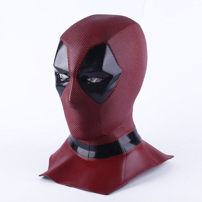 Marvel Deadpool 2 Halloween Cosplay Latex Full Face Mask Movie Costume Props ()