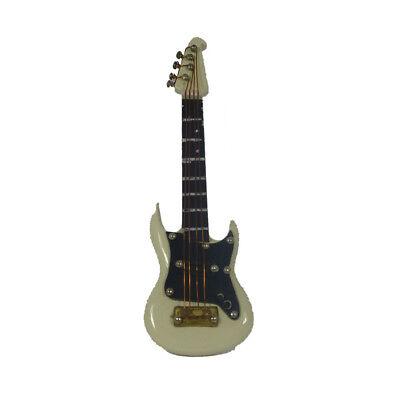 Kim 10139 Guitarra Eléctrica Blanco Con Maleta 1:12 Para Muñecas Nuevo! #