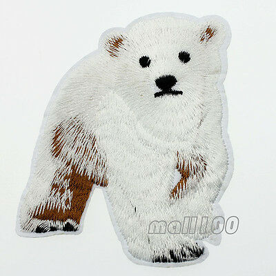 Polar Bear Patch - Polar Bear Patch Animal Embroidered Iron On Sew On Applique Patch 1or 5 or10 pcs