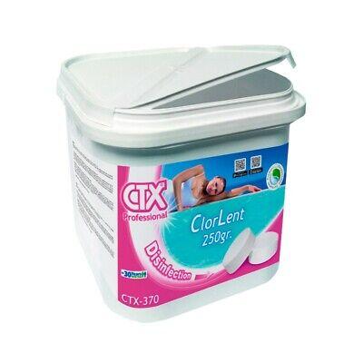 Cloro Lento Para Piscinas. Tricloro Tabletas 250g Astralpool CTX-370. 5 Kg.