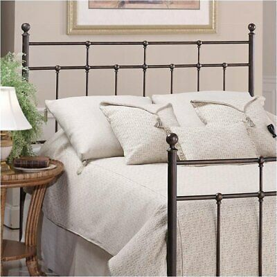 Hawthorne Collections Twin Slat Metal Headboard in Bronze (Collection Twin Slat)