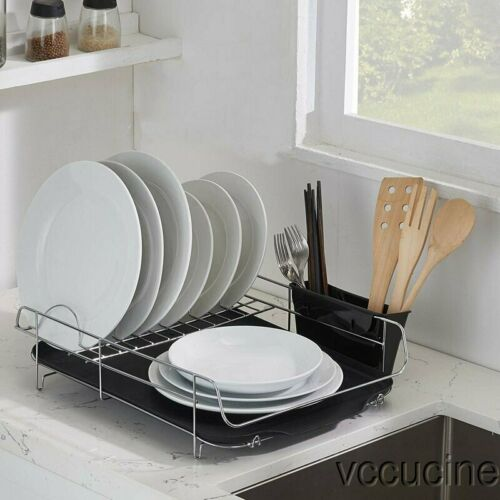 Kitchen Storage Sturdy Wire Dish Drying Holder Rack Drainboa