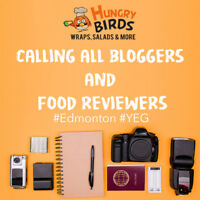 Wanted Food Bloggers & Reviewers