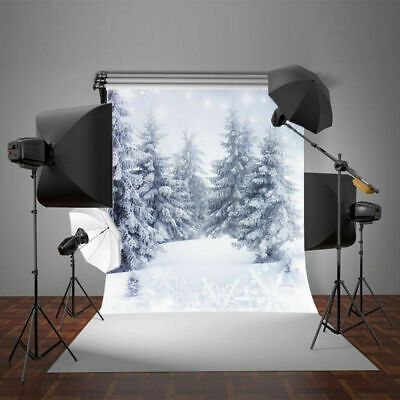 Christmas Scene Backdrop (Christmas Snowy World Winter Forest Scene Photography Backdrop Prop)