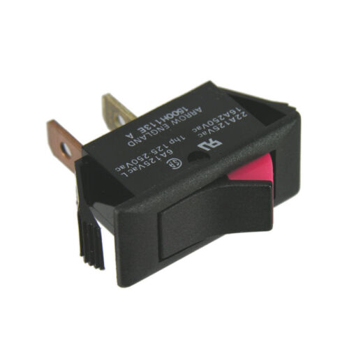 Rocker Switch SPST On/Off 125Vac 22A Indicating Type Arrow