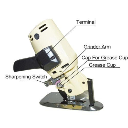 """Electric Cloth Cutter Scissors Fabric Sew Cutting Machine 110mm 4.3"""" Blade New"""