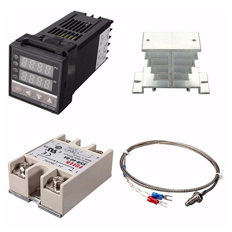 Digital 110-240V PID REX-C100 Temperature Controller + max.40A SSR W1L3 USA