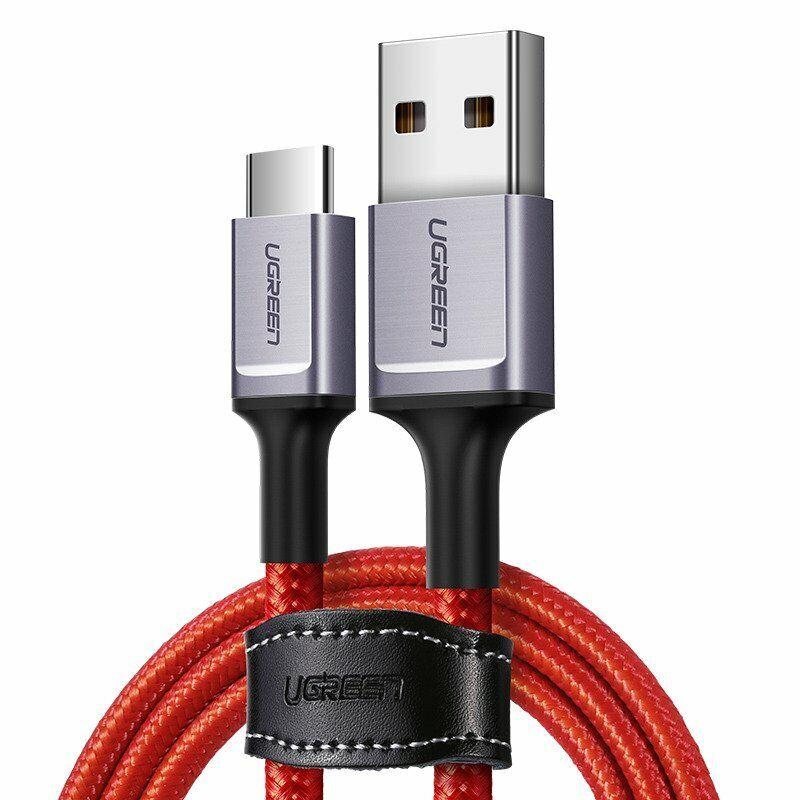 Ugreen Cavo 1mt USB Type-C Ricarica Rapida 3A Nylon Rosso