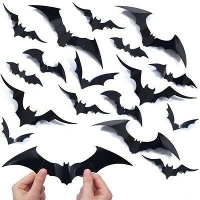 20 Halloween Scary 3D Flying Bats Wall Stickers Room Decoration Home Decor - Decorate Halloween