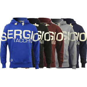 New-Mens-Sergio-Tacchini-Hoodie-Hoody-Hooded-Sweatshirt-Jumper-Sweater-Pullover