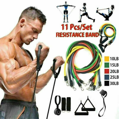 11pcsset Pull Rope Exercise Resistance Bands Set Home Gym Equipment Fitness Us