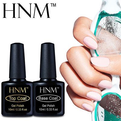 HNM Base Coat No Wipe Top Coat Matt Sealer Foundation For Gel Nail Polish 8/10ML Top Gel Sealer