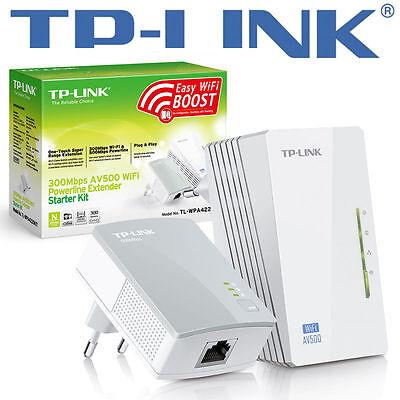 DLAN Powerline TP-Link DLAN WPA-4220Kit, WLAN, RJ-45 bis zu 500 MBit/s WLAN NEU