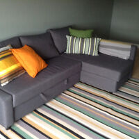 Grey couch/queen pull out