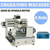 4 AXIS CNC ROUTER 3020 ENGRAVER ENGRAVING MACHINE CARVING 3D CUTTER Drilling us