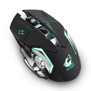 Wireless Mouse Rechargeable Silent USB Optical