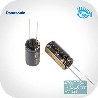 470uf 35v Panasonic Fm Low Impedance Fever Audio Electrolytic Capacitor 10x20mm