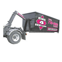 Waste Disposal Bin Rental 6 Sizes for small or large Projects