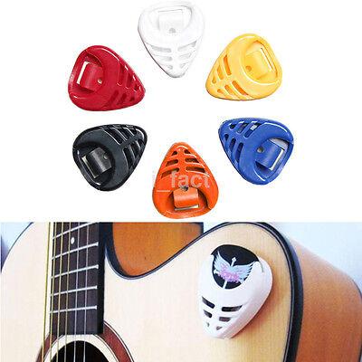 3Pcs Portable Plastic Guitar Pick Plectrum Holder Cases Triangle Shape Random