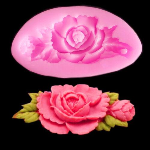 DIY 3D Flower Silicone Mold Fondant Cake Chocolate Sugarcraft Mould Free ship