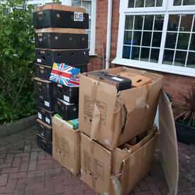Cardboard boxes approx 50 pieces
