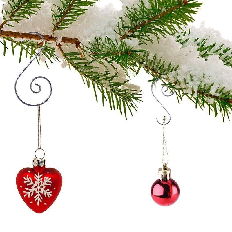 120 Pieces Christmas Ornament Hooks S Shape Hanger Hooks Swirl Scroll Ornam S2J8