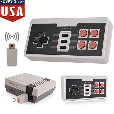 Rechargable Wireless Gamepad Controller For Nintendo Nes Classic Mini Console Us