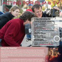 ACTING FOR FILM & TELEVISION- 4 Day Intensive for Teens/Youths