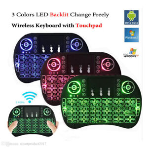 i8 2.4g Wireless Backlit remote with keyboard and touchpad