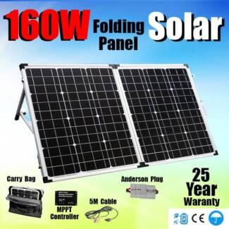 Folding Solar panel 160w - Full kit - Plug n Play In Stock