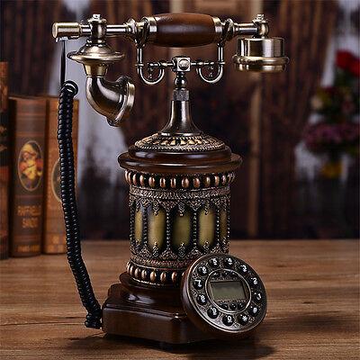 European column noble Antique phone Retro Vintage Home corded telephone F036