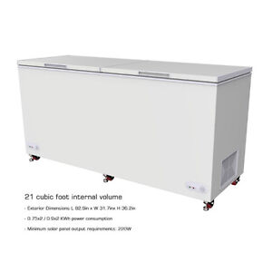 C4P21CF 21Cu.Ft. 595 Liter 12-24V Off-grid Chest Freezer