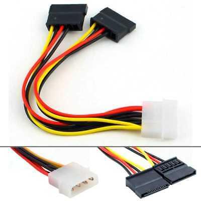 Doble Cable Adaptador de Ide Molex a Sata 2 Conectores Sata 1...