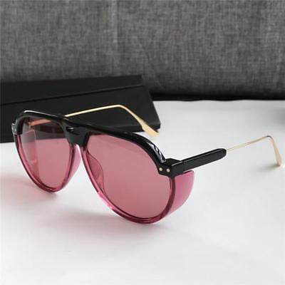 Style Tint - Tinted Monoblock Sunglasses Pilot Style Side Panel Sunnies Retro Fashion Shades