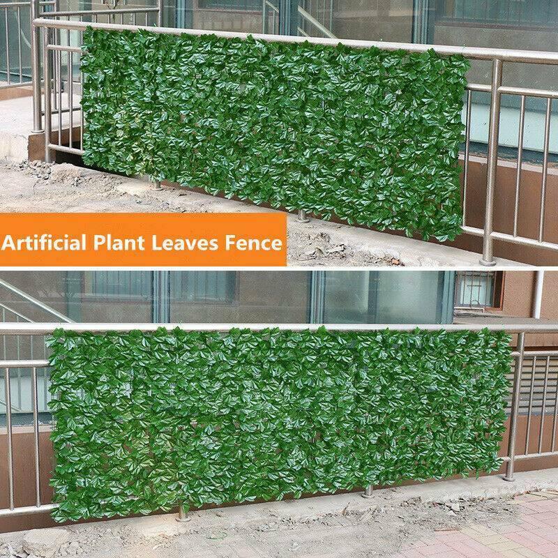 US Artificial Faux Leaf Fence Hedge Screen Panel Garden Privacy Grass Decoration Floral Décor