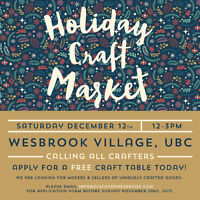 Crafters Wanted for Holiday Craft Market