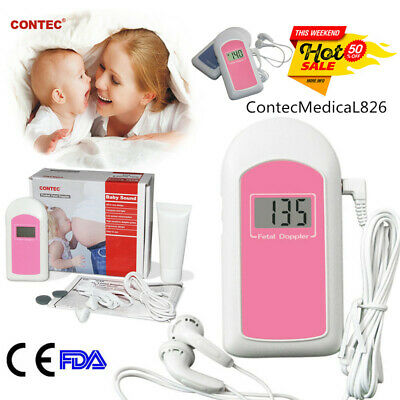 Contec Baby Sound B Pocket Fetal Doppler Lcd Gel Prenatal Heart Rate Monitor Usa