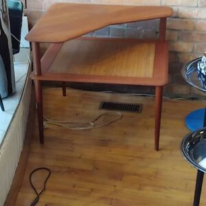 Vintage teak end table by France and Son Denmark