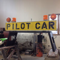 PILOT CAR SIGN WITH STAND!!!