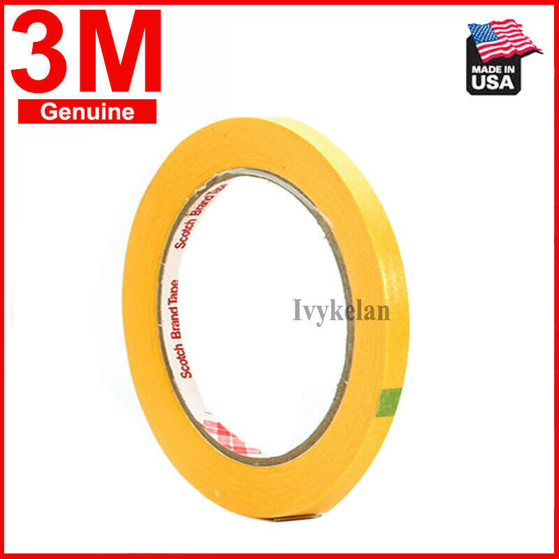 3M244 Hi-Temp Masking Tape For Car Painting Refinish 3mm wid