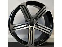 "18"" Phase 3 R-Line Alloys & Tyres. Suit Audi A3,Volkswagen Caddy,Golf,Jetta,Passat,Seat Leon 5x112"