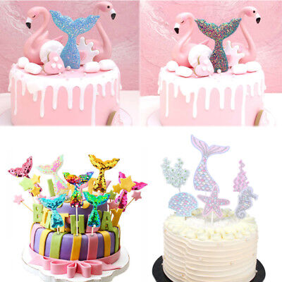 Cupcake Party Theme (Sequins Mermaid Tail Theme Party Cupcake Decor Cake Toppers Birthday)