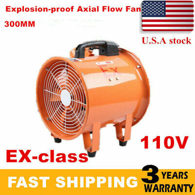Atex Explosion Proof Axial Fan Ventilator Ignition Resisted 12 Inch 2191cfm New