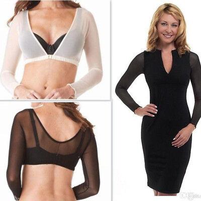 Women Sparkle Mesh Sheer See-through Long Sleeve Crop Top Blouse T-Shirt Sexy Q