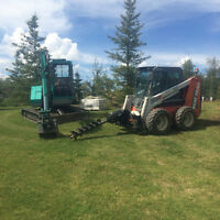 ToughGuy Bobcat, Mini-Ho, Landscape Construction, Decks Fences