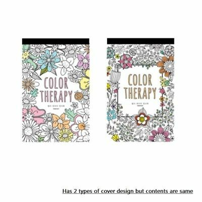 Color Therapy Coloring Books for Adult Postcards Hand Drawn Greeting Card - Coloring Therapy For Adults