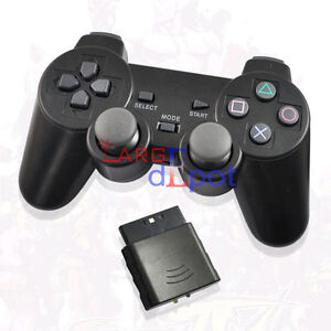 For Sony PS2 2.4G Wireless Dual Shock Game Controller Joystick Joypad