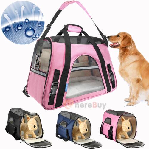 Pet Carrier Soft Sided Large Cat/Dog Comfort Travel Bag Oxford Airline Approved